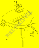 FUEL TANK (MODEL R/S/T) for Suzuki GS-E 500 1996