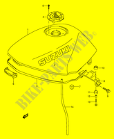 FUEL TANK (MODEL R/S) for Suzuki GS-E 500 1992