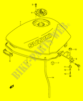 FUEL TANK (MODEL T) for Suzuki GS-E 500 1992