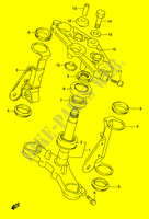 STEERING COLUMN (MODEL K3) SUSPENSION/BRAKES/WHEELS 500 suzuki-motorcycle GS 2004 DP010621