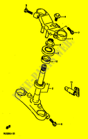 STEERING COLUMN for Suzuki GS-E 500 1990