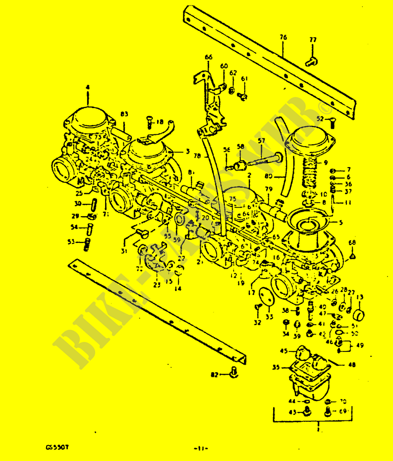 CARBURETOR for Suzuki 1980 # SUZUKI MOTORCYCLES - Genuine