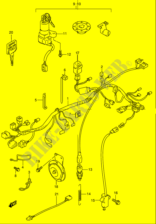 WIRING HARNESS - GS500K1(E2) K1 2001 - GS500K1(E2) - - GS 500 ...: 2001 suzuki gs500 wiring diagram at sanghur.org