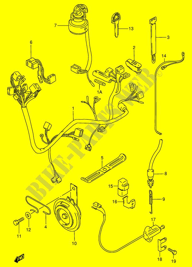 wiring harness electrical gn125m e1 1991 gn 125 moto suzuki rh bike parts suz com suzuki gn 125 cdi wiring diagram Suzuki GN 125 Scrambler