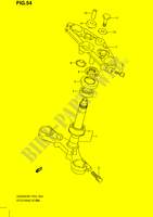 STEERING COLUMN (GS500FH) SUSPENSION/BRAKES/WHEELS 500 suzuki-motorcycle GS 2009 DP051865