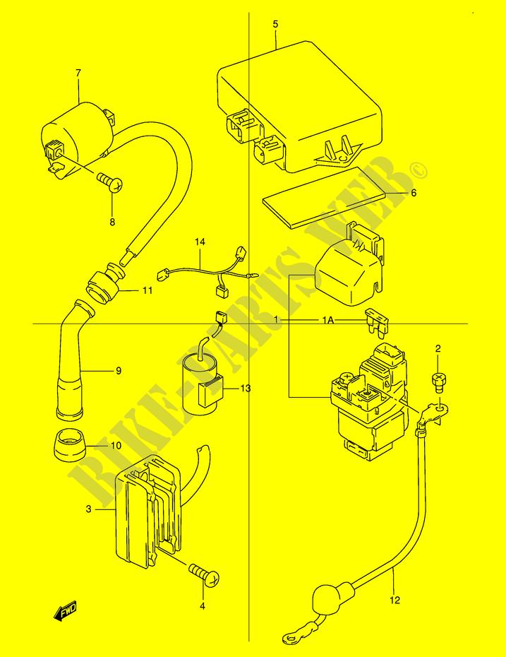 suzuki 400 2007 wiring diagram, electrical electrical dr250rx e24 1999  dr 250 moto suzuki motorcycle on 2003 sunfire suspension diagram,