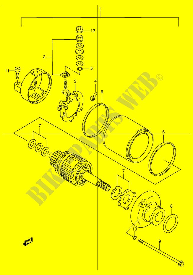 suspension diagram, starter motor electrical dr250rx e24 1999 dr 250  moto suzuki     on 2003 sunfire