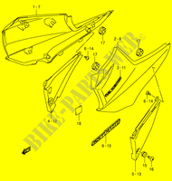 FRAME COVER (MODEL K3)  GSX1400K5(E2) K5 2005 Motorcycle Suzuki microfiche diagram