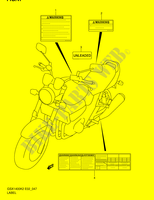 LABEL  GSX1400K5(E2) K5 2005 Motorcycle Suzuki microfiche diagram