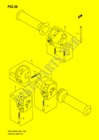 HANDLE SWITCH (MODEL K2/ K3)  GSX1400K5(E2) K5 2005 Motorcycle Suzuki microfiche diagram