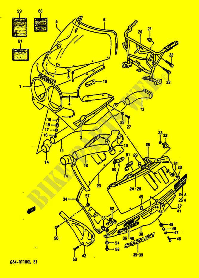 Genuine Suzuki GSX-R1100L Model K Cowling 9SR Body Front Screw 09139-06056-000