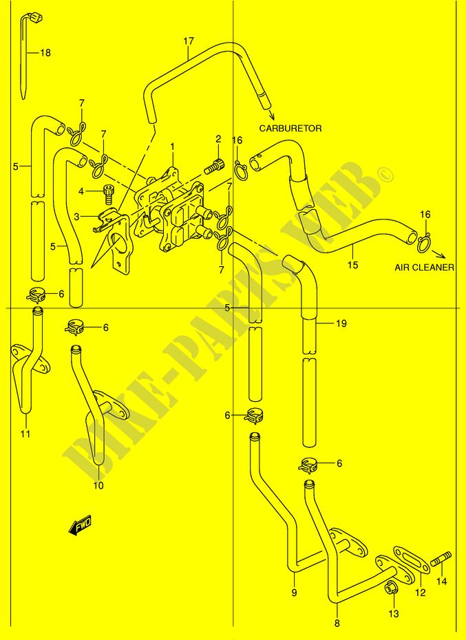 Fuel Evap System For Suzuki Bandit 1200 2001   Suzuki