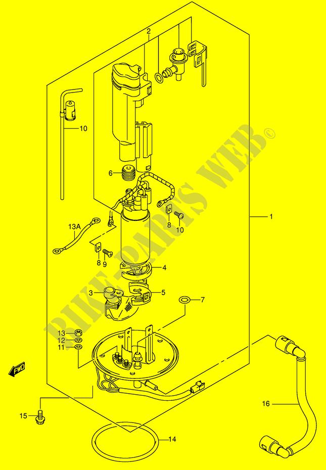 FUEL PUMP (MODEL K2/K3) for Suzuki GSX-R 750 2002 # SUZUKI MOTORCYCLES -  Genuine Spare Parts CatalogSUZUKI Genuine Spare Parts Catalogue for