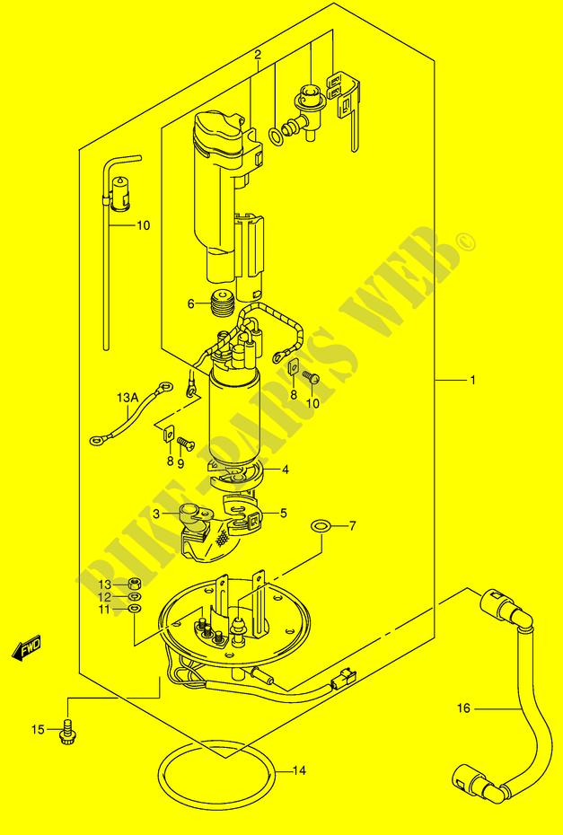 suzuki gsx r fuel pump wire diagram fuel pump  model k2  for suzuki gsx r 600 2002 suzuki  fuel pump  model k2  for suzuki gsx r