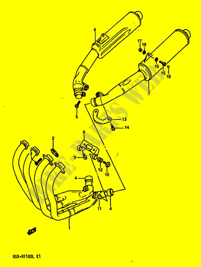 Genuine Suzuki GSX-R1100L Muffler Connector 14771-44B00-000
