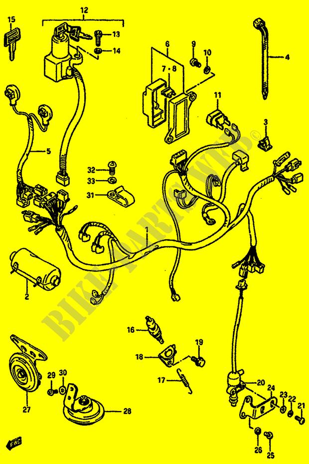 Wiring Harness For Suzuki Gsx 750 1985   Suzuki
