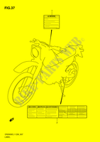 LABEL  DR200SEL1(E28) L1 2011 Motorcycle Suzuki microfiche diagram