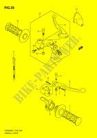 HANDLE LEVER  DR200SEL1(E28) L1 2011 Motorcycle Suzuki microfiche diagram
