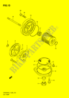 OIL PUMP  DR200SEL1(E28) L1 2011 Motorcycle Suzuki microfiche diagram