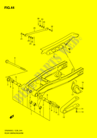 REAR SWINGING ARM  DR200SEL1(E28) L1 2011 Motorcycle Suzuki microfiche diagram