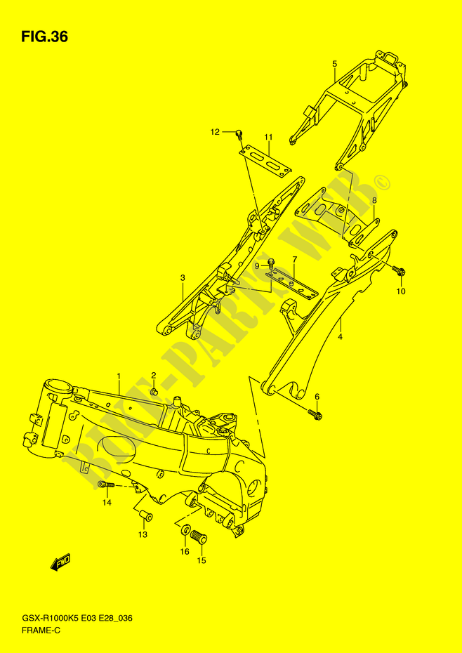 Frame For Suzuki Gsx