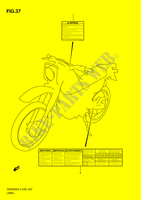 LABEL  DR200SEL2(E28) L2 2012 Motorcycle Suzuki microfiche diagram