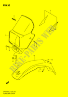 HEADLAMP COVER  DR200SEL2(E28) L2 2012 Motorcycle Suzuki microfiche diagram