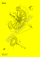 FRONT WHEEL (RM85L2 P19) for Suzuki RM 85 2012