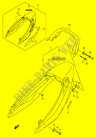 SEAT TAIL COVER (MODEL K3)  GSX1400K5(E2) K5 2005 Motorcycle Suzuki microfiche diagram