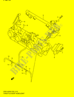 THROTTLE BODY HOSE/ JOINT (MODEL K2)  GSX1400K5(E2) K5 2005 Motorcycle Suzuki microfiche diagram