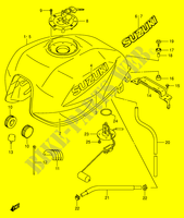 FUEL TANK (MODEL K3)  GSX1400K5(E2) K5 2005 Motorcycle Suzuki microfiche diagram