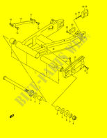 REAR SWINGINGARM (MODEL K3/ K4/ K5)  GSX1400K5(E2) K5 2005 Motorcycle Suzuki microfiche diagram