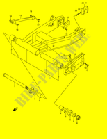 REAR SWINGINGARM (MODEL K2)  GSX1400K5(E2) K5 2005 Motorcycle Suzuki microfiche diagram