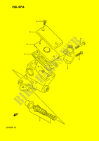 FRONT MASTER CYLINDER (MODEL P)  GSF400N(E2) N 1992 Motorcycle Suzuki microfiche diagram