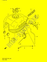 FUEL TANK (MODEL K2)  GSX1400K5(E2) K5 2005 Motorcycle Suzuki microfiche diagram