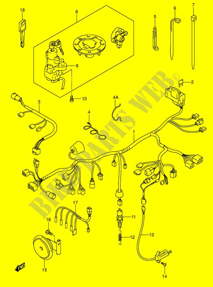wiring harness gsf600sy suy sk1 sk2 suk1 suk2 gsf600sk1 e2 k1 wiring harness gsf600sy suy sk1 sk2 suk1 suk2 gsf600sk1