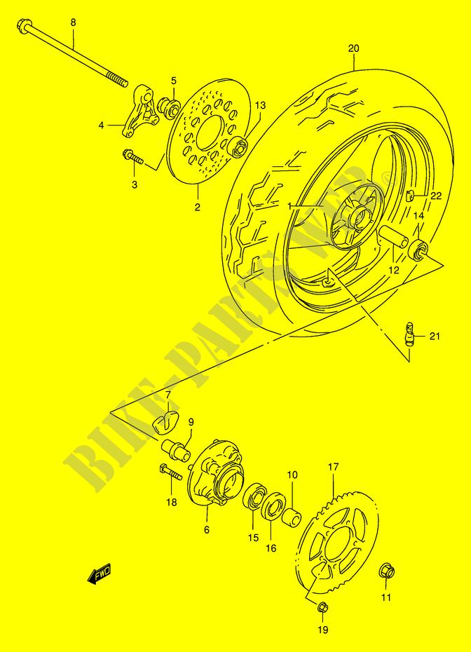 Rear Wheel For Suzuki Gsx 400 1997   Suzuki Motorcycles