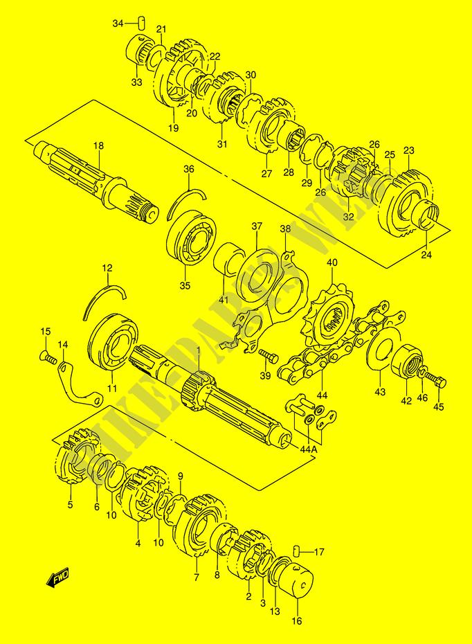 transmission engine transmission gsx r1100wv e28 1997 gsx r 1100 E46 Engine Diagram suzuki moto 1100 gsx r 1997 gsx r1100wv(e28) engine transmission