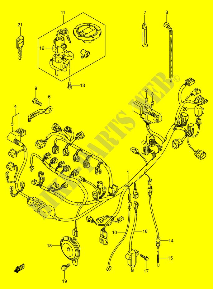 2004 Suzuki Gsxr Wiring Harnes