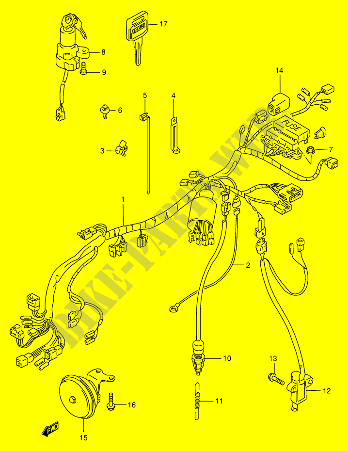 Suzuki Moto 400 Bandit 1997 Gsf400vve30 Electrical Wiring Harness: Suzuki Bandit 400 Wiring Diagram At Shintaries.co