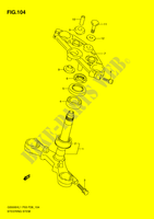 STEERING COLUMN (GS500FH P3) SUSPENSION/BRAKES/WHEELS 500 suzuki-motorcycle GS 2011 DP064889