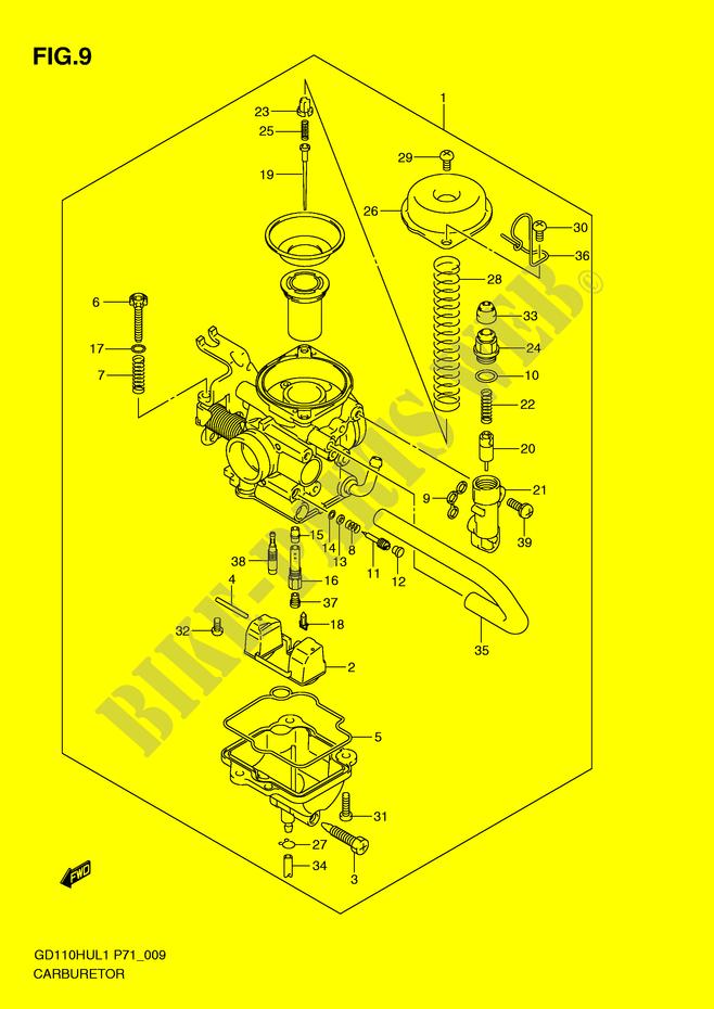Suzuki Moto 110 Gd 2011 Gd110hul1p71 Engiransmission Carburetor: Suzuki Engine Parts Diagram At Executivepassage.co