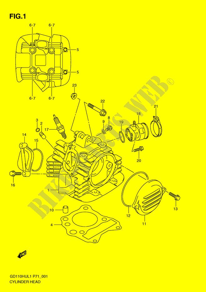 CYLINDER HEAD for Suzuki 2011 # SUZUKI MOTORCYCLES - Genuine