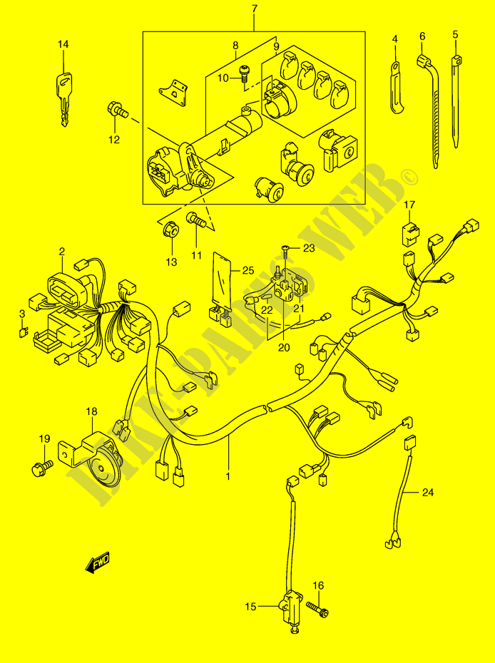 wiring harness model y anry e y anry e wiring harness model y an250ry e2 y 2000 motorcycle suzuki microfiche