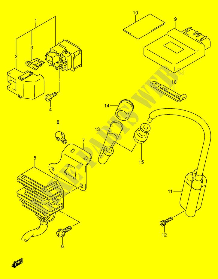 Ignition Coil for 2000 Suzuki AN 400 Y Burgman