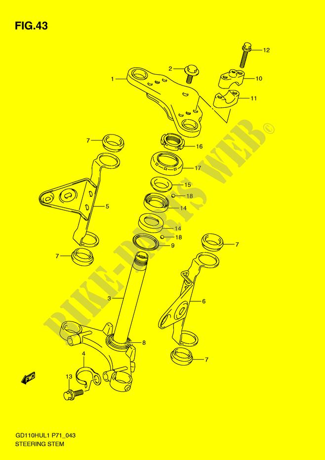 FRONT FORK for Suzuki 2011 # SUZUKI MOTORCYCLES - Genuine Spare