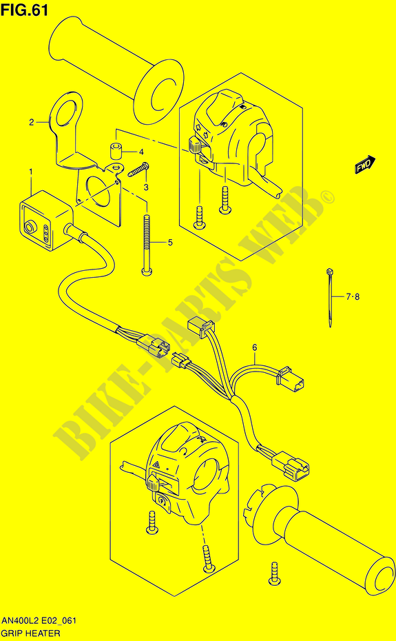 grip heater set an400zal2 e02 electrical an400zal2 e02e19e51 2012 rh bike parts suz com