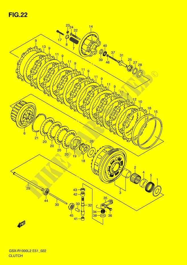 suzuki moto 1000 gsx-r 2012 gsx-r1000l2(e51) engine/transmission