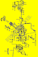 CARBURETOR  DR350 V/W/X Motorcycle Suzuki microfiche diagram