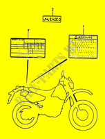 LABEL  DR350 V/W/X Motorcycle Suzuki microfiche diagram